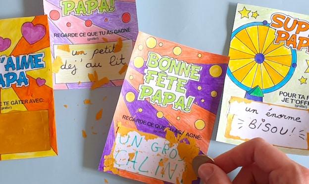 Cadeau gratuit pour la fête des pères : Cartes à gratter Mapiwee