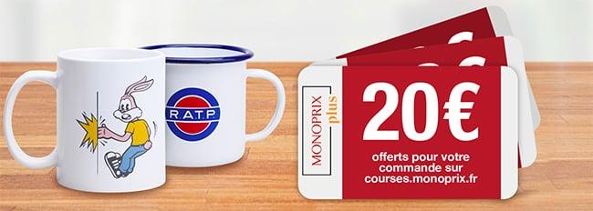 Tentez de gagner un mug ou une réduction Monoprix avec maRATP