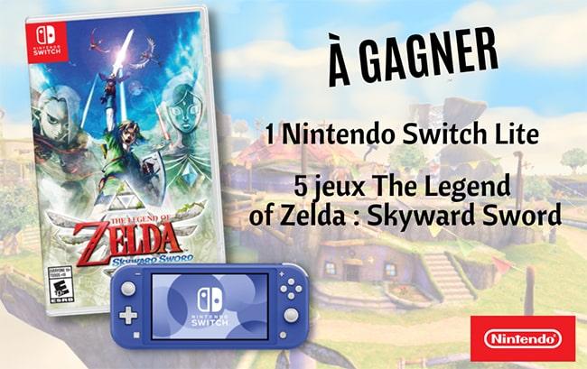 Gagnez une Nintendo Switch ou le jeu The Legend of Zelda avec Geo Ado