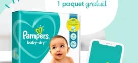 Appli Pampers Club : paquet de couches scanné = 1 gratuit