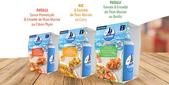 Testez gratuitement un Repas Express au thon mariné Petit Navire avec Sampleo