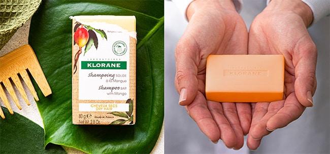 Testez le shampoing solide à la mangue Klorane avec Sampleo