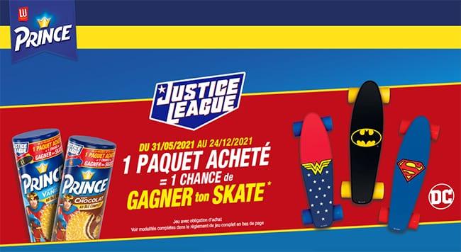 Gagnez un skateboard personnalisé Batman, Wonder Woman ou Superman avec LU