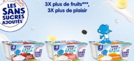 Test Nestlé : Packs P'tit Brassé sans sucre ajoutés gratuits