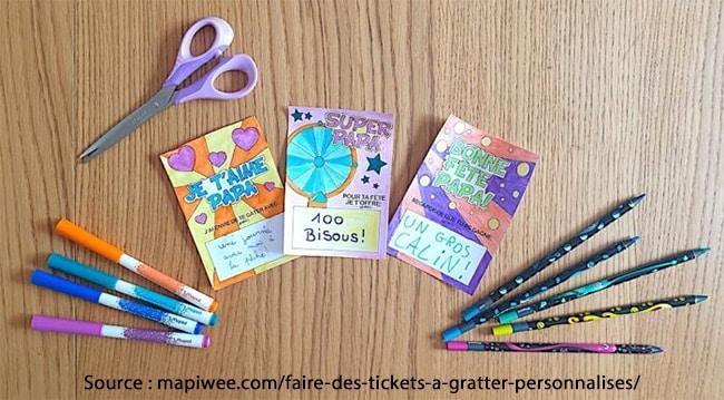 cartes à gratter Mapiwee pour la fête des papas