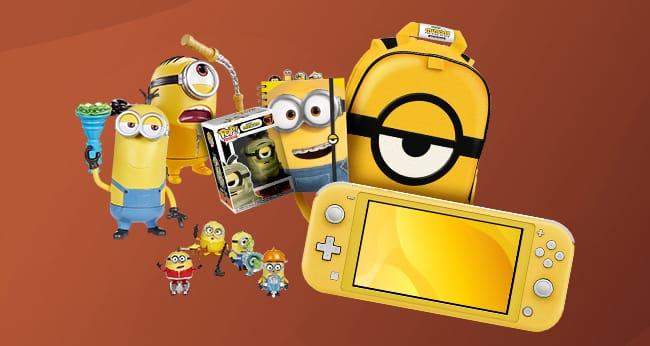 Tentez de gagner une console de jeu ou l'un des autres lots du jeu Candy'up & Les Minions