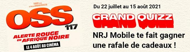 Cadeaux du concours NRJ Mobile & OSS 117