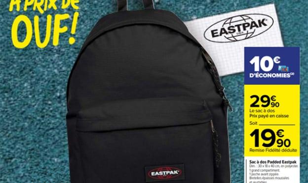 Carrefour : Sac à dos Eastpak Padded à 19,90€ (remise déduite)