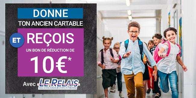 Obtenez un bon de 10€ d'achat en rapportant un cartable chez Géant Casino