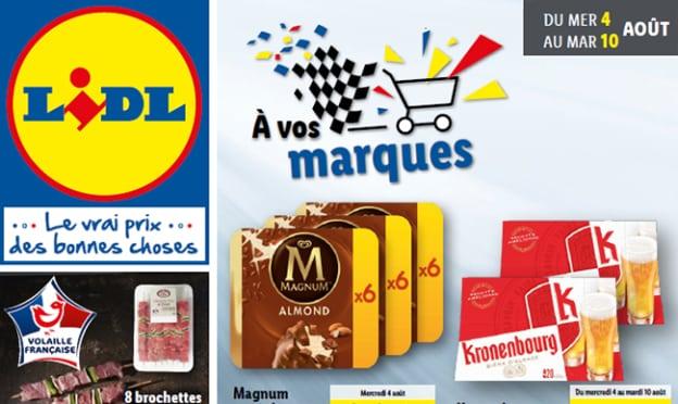 Catalogue Lidl promo marques d'août 2021