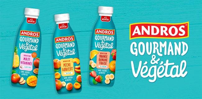 Testez gratuitement l'une des douceurs à boire Andros Gourmand & Végétal