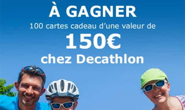 Jeu Envie de plus : 100 cartes cadeaux Decathlon de 150€
