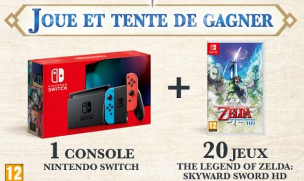 Remporter la Nintendo Switch ou le jeu The Legend of Zelda