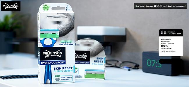 Obtenez le remboursement intégral de votre rasoir Wilkinson Hydro Comfort
