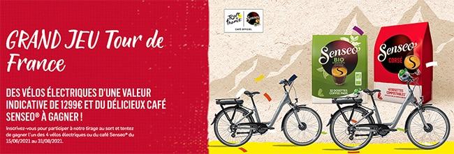Tentez de remporter un vélo électrique ou un coffret de dosettes de café Senseo