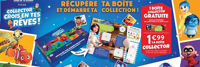 Boîte collector Pixar chez Cora