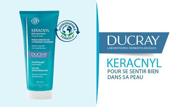Testez gratuitement le gel moussant Keracnyl Ducray avec Sampleo