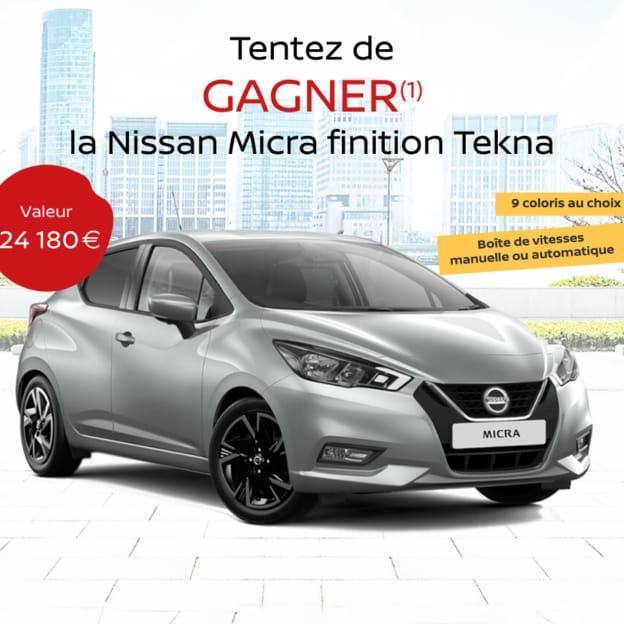 Jeu Blancheporte : Nissan Micra à gagner