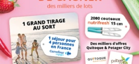 Jeu Nutrifresh Carrefour : séjour et cadeaux à gagner