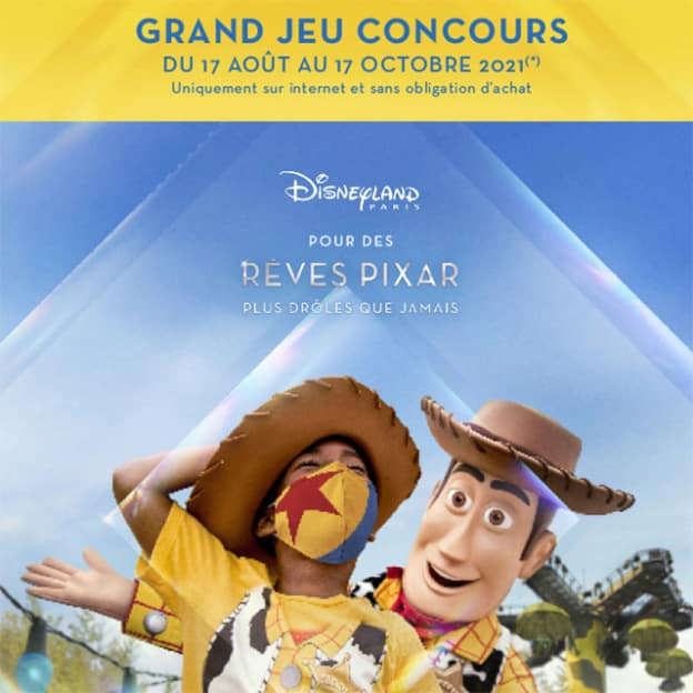 Jeu Cora Pixar : séjours à Disneyland à gagner