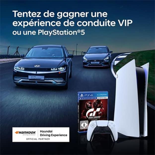 Jeu Hankook : Expérience Hyundai et PlayStation 5 à gagner