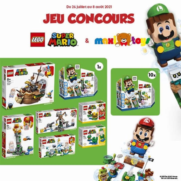 Jeu Maxi Toys : 18 boîtes de LEGO Super Mario à gagner