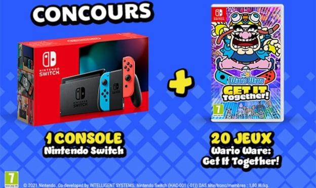 Remporter la Nintendo Switch et le jeu Wario Ware