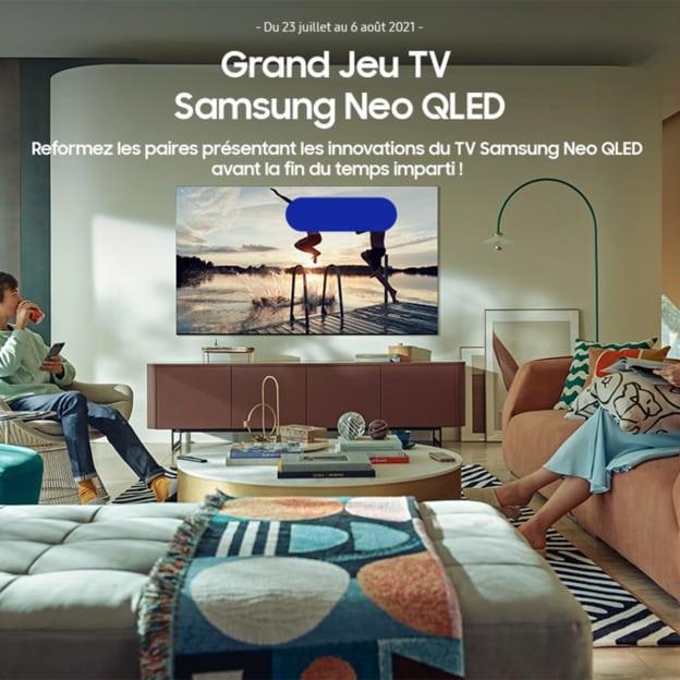 Jeu Samsung : TV Neo QLED 163cm et barre de son à gagner