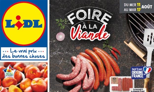 Catalogue Lidl Foire à la Viande août 2021