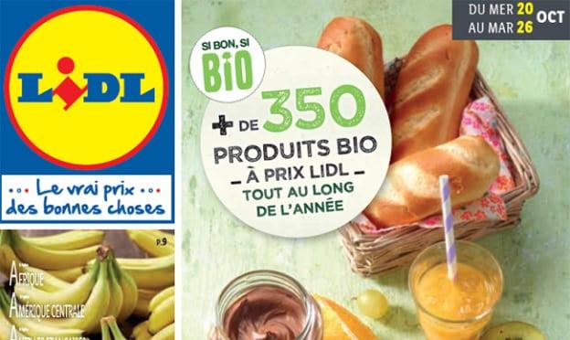 Catalogue Lidl «Si bon, si BiO» du 20 au 26 octobre 2021
