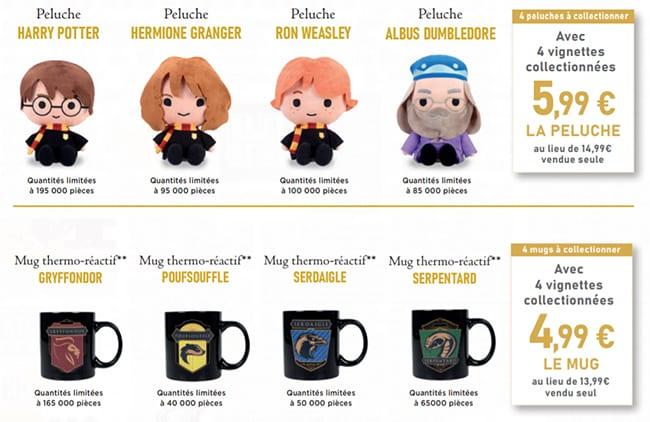 Profitez de remise immédiate sur les mugs et les peluches Harry Potter