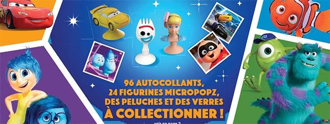 autocollants et figurines Pixar offerts chez cora