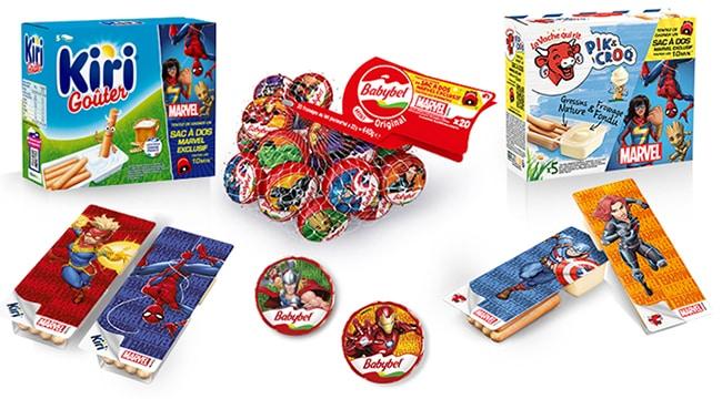 Les produits éligibles au jeu Ribambel Marvel