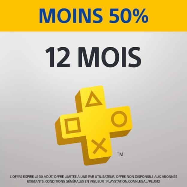 Abonnement PlayStation Plus à moitié prix