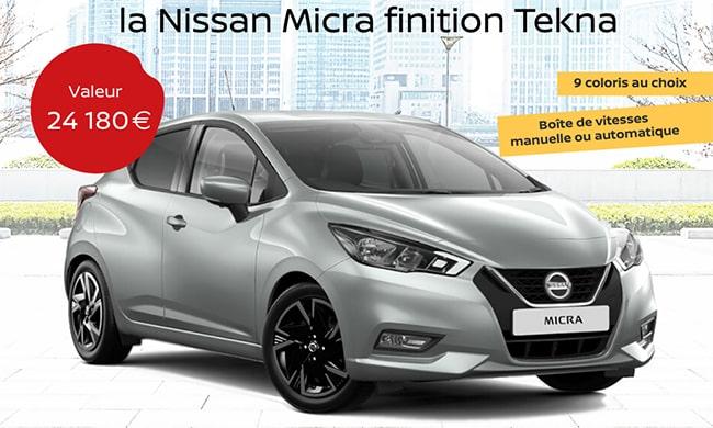 Gagnez la Nissan Micra de votre choix avec le jeu Blancheporte