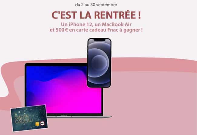 Remportez un i-Phone 12, un MacBook air 13 ou un chèque cadeau Fnac avec Ouest-France