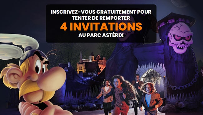 Gagnez des entrées au Parc Astérix pour Halloween 2021