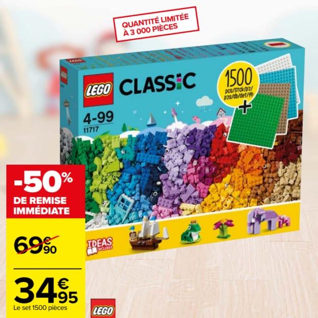 Promo Carrefour : Set de 1'500 pièces de LEGO à moitié prix