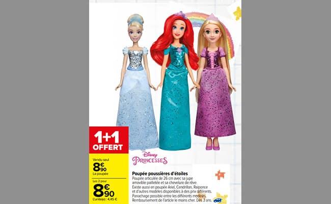 Promotion sur Poupées Poussière d'étoiles Disney chez Carrefour
