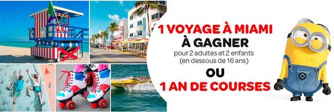 Gagnez un voyage à Miami ou un an de course chez Carrefour