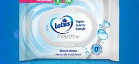 Échantillon gratuit papier toilette humide Lotus