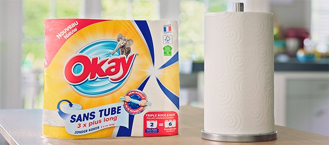 Testez gratuitement l'essuie-tout Okay Sans Tube avec TRND