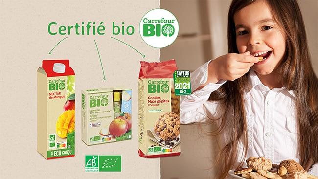 Testez gratuitement un goûter Carrefour Bio avec TRND