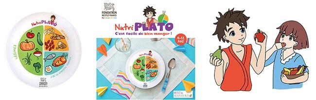 Commandez gratuitement votre assiette et votre livret Nutriplato
