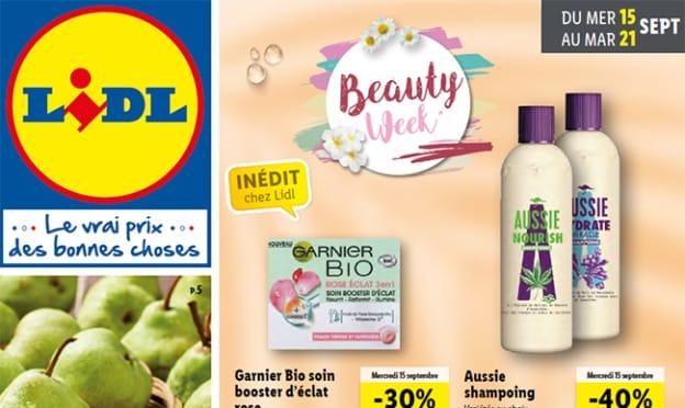 Catalogue Lidl «Beauty Week» du 15 au 21 septembre 2021