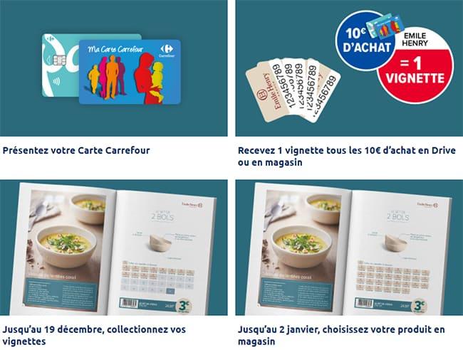 Comment obtenir les articles Emile Henry à petits prix chez Carrefour ?