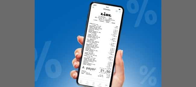 Des tickets de caisse et garanties sur Lidl Plus