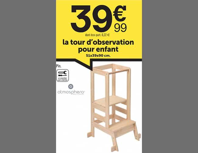 Tour d'observation pour enfants pas cher : 39,90€ chez Centrakor