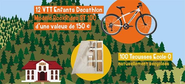 Gagnez un vélo Rockrider Decathlon ou une trousse Ecole-O