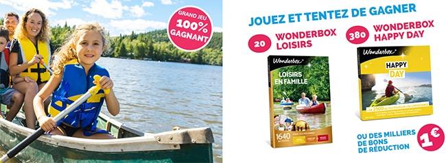 Gagnez une Wonderbox ou un coupon avec les instants 100% gagnants Le Gaulois